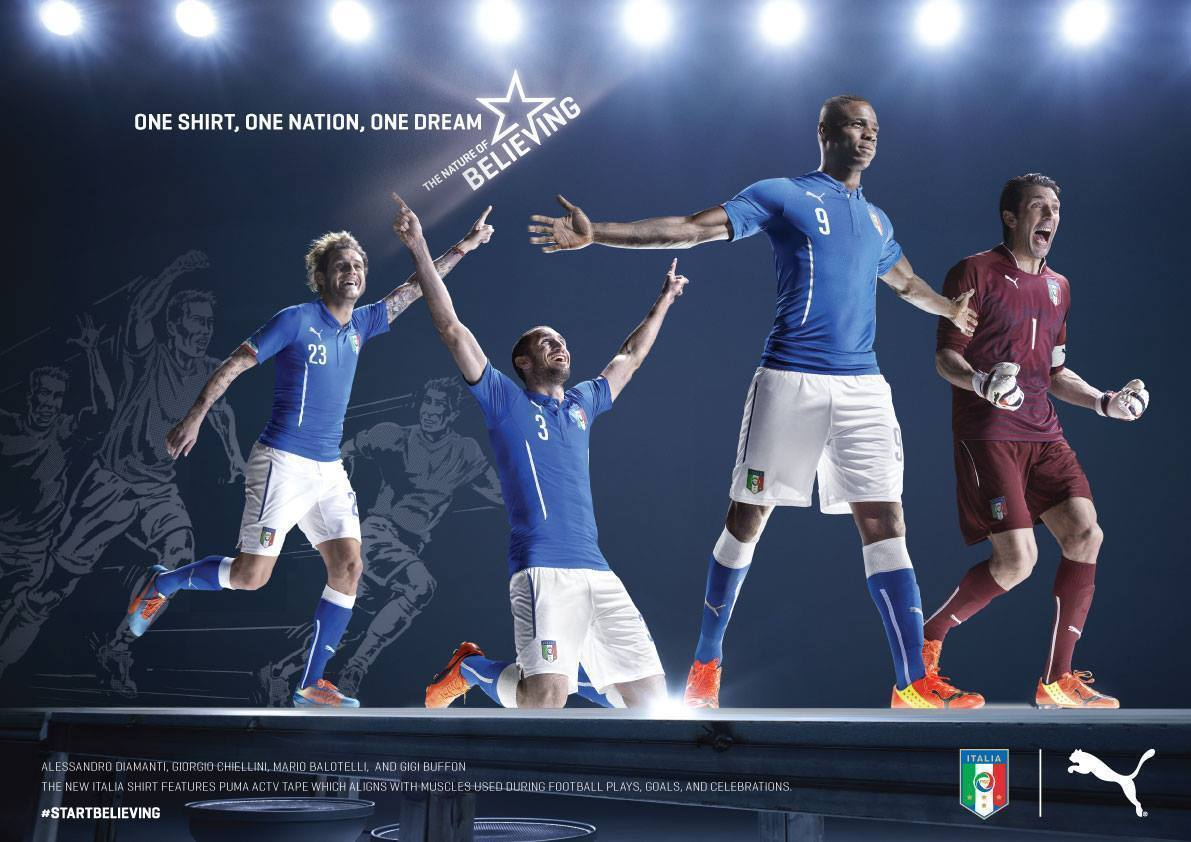 Italy 2014 World Cup Home Kit. Image courtesy of PUMA®