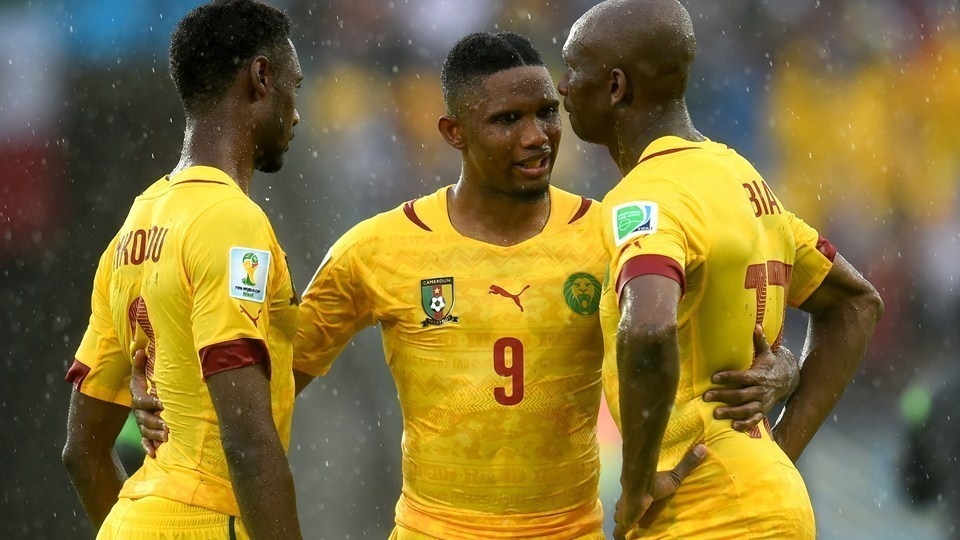 Cameroon players in Group A.