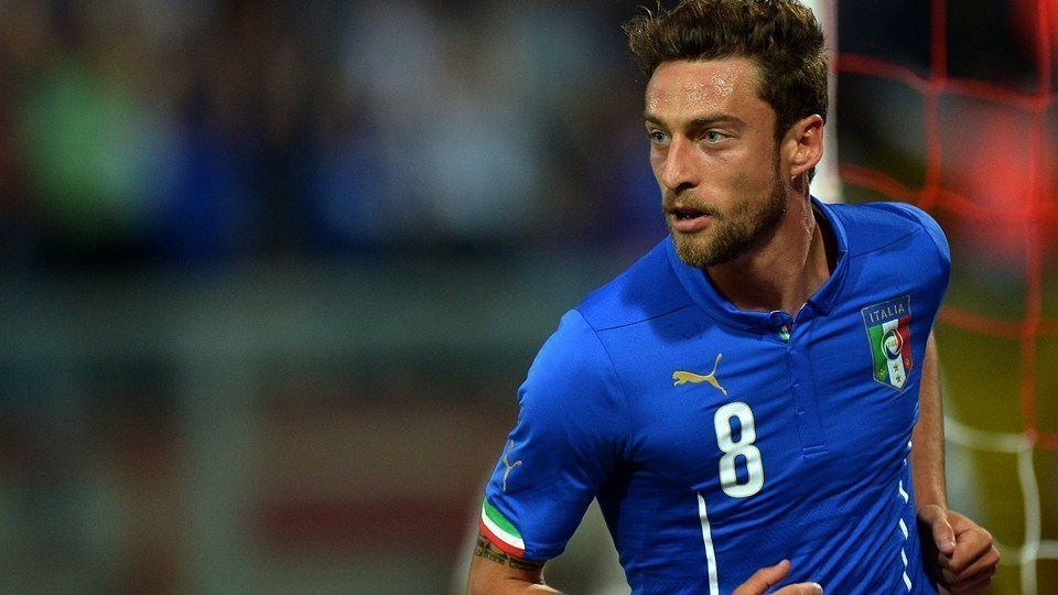 Claudio Marchisio, midfielder in the Italy national team at the 2014 FIFA World Cup.