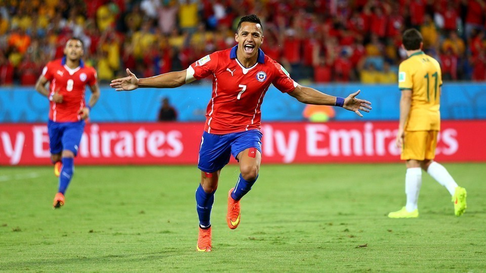 Chile – Australia Group Stage match in Group B.
