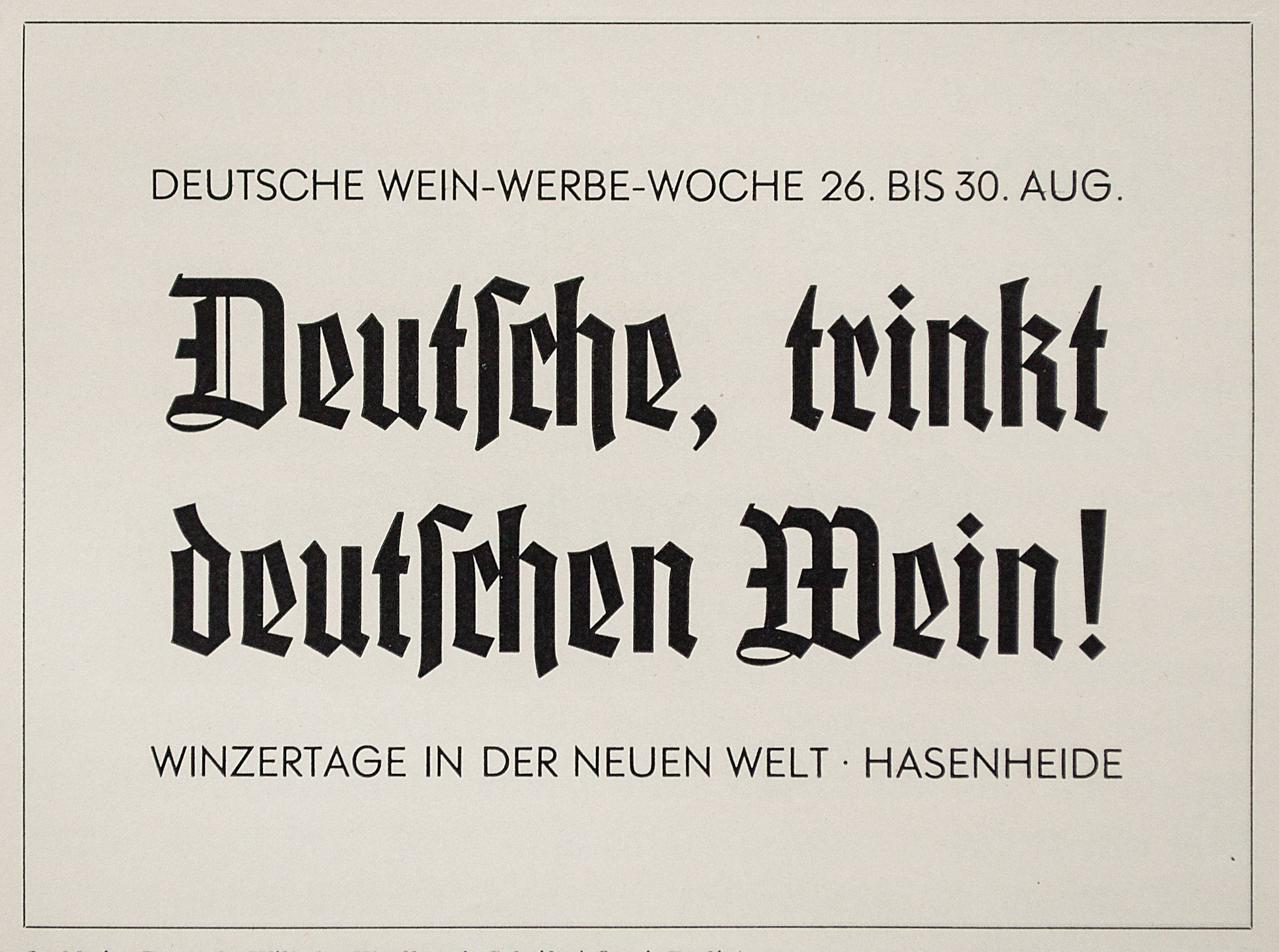 In specimens of the early 1930s German type foundries suggested mixing blackletter with geometric sans serifs. The first example shows Element (1934) in the headlines accompanied by Futura (1927), both by the Bauer Type Foundry (not related to Friedrich Bauer). Another showing demonstrates a mix of Jochheim-Deutsch (1934) and Atlantis Grotesk (1933), both by Wilhelm Woellmer type foundry. (Reproduced from *Klimschs Jahrbuch*, volumes 27 and 28, with kind permission from the collection of Erik Spiekermann.)
