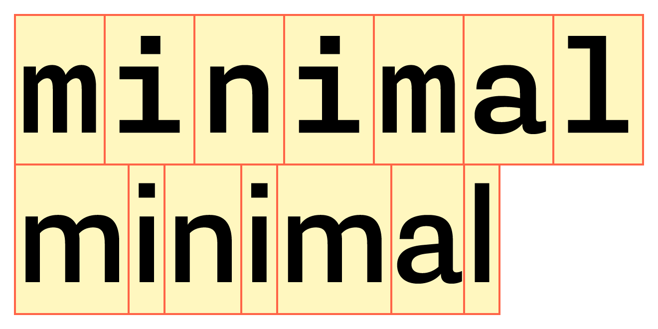 **Top line:** [Pieter van Rosmalen](/designers/pieter-van-rosmalen)'s monospaced [Nitti](/families/nitti). **Bottom line:** Its proportional sibling [Nitti Grotesk](/families/nitti-grotesk).