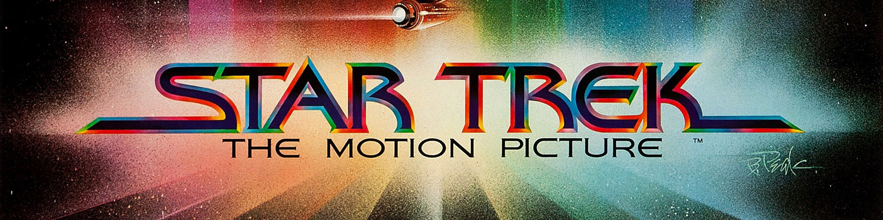 © 1979 Paramount Pictures – The Star Trek movie logo as seen on the poster designed by Bob Peak for the original motion picture. Click the image to see the complete poster on IMPAwards.