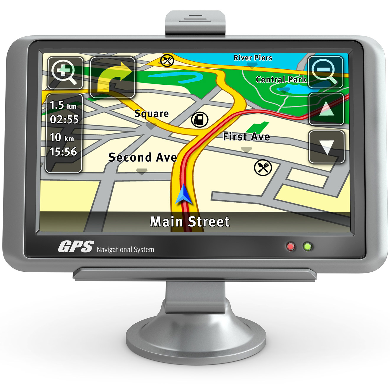 Fictional use case of FF Meta in an automotive navigation system.