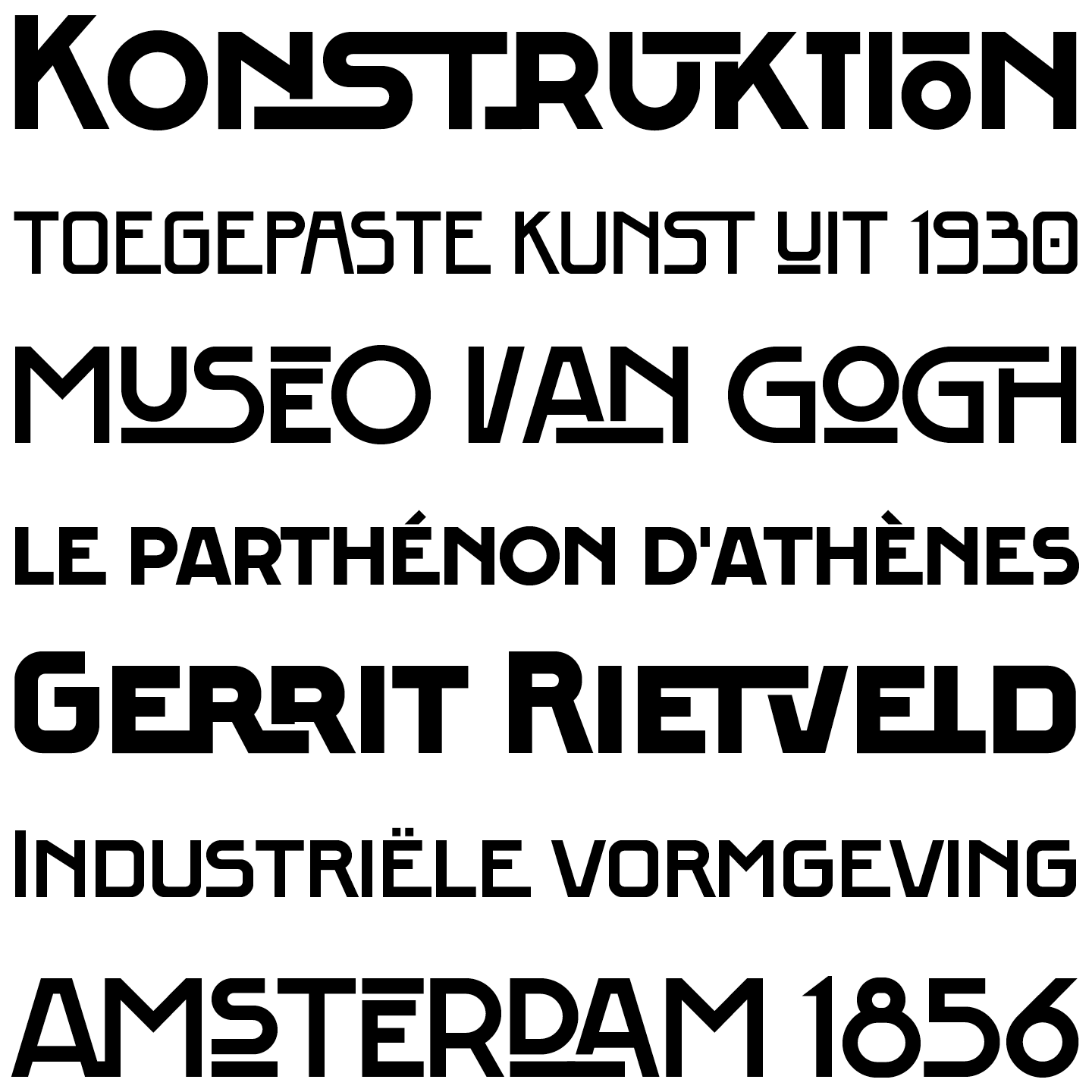 The FF Berlage Beurs and Burcht typefaces in combination.