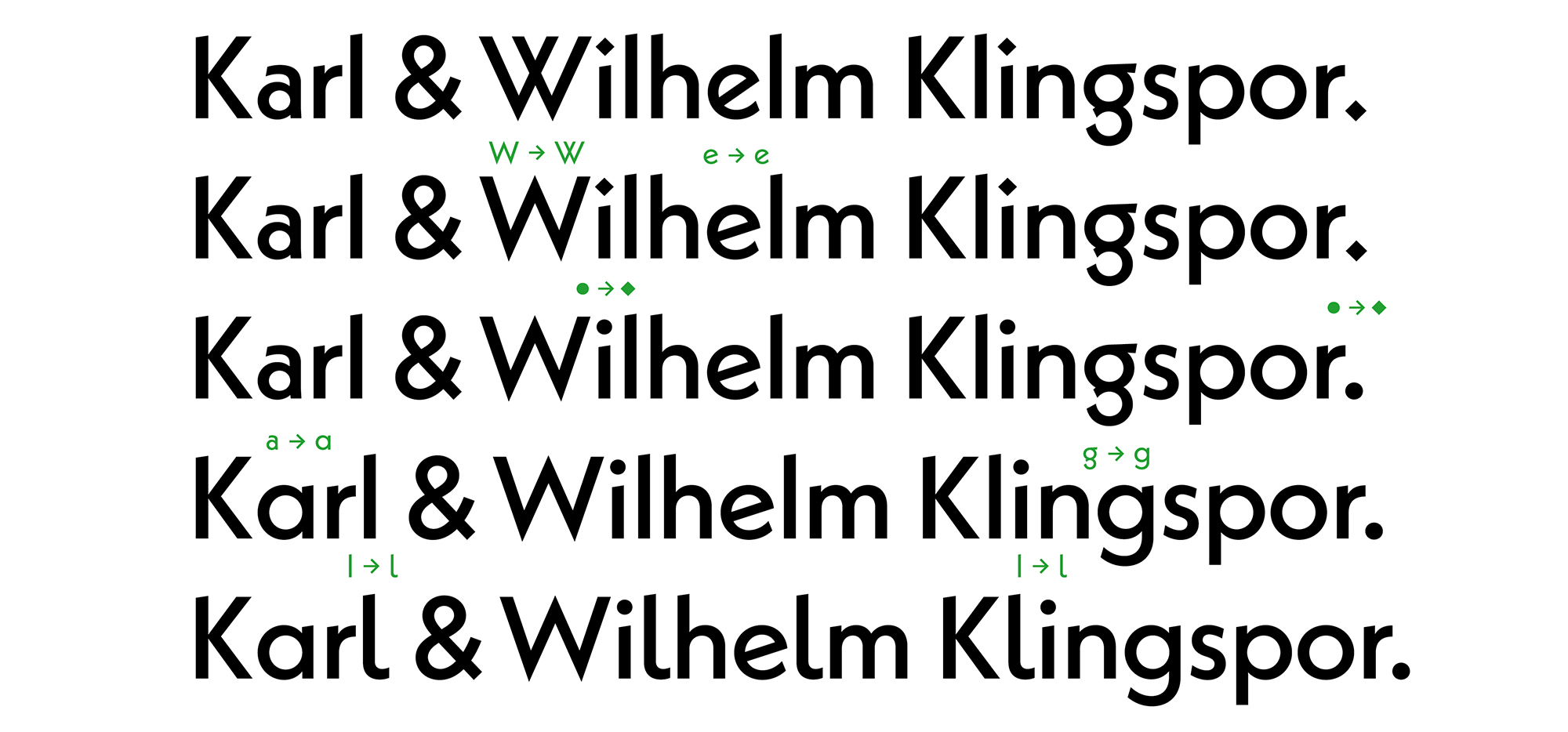 "**Spoiled for choice.** Perhaps the most powerful feature in Neue Kabel is the great amount of Stylistic Sets, transforming the typeface from ""Kabel in 1927"" to ""Kabel contemporary"" and back—with Neue Kabel inbetween (default, without selected styles)."