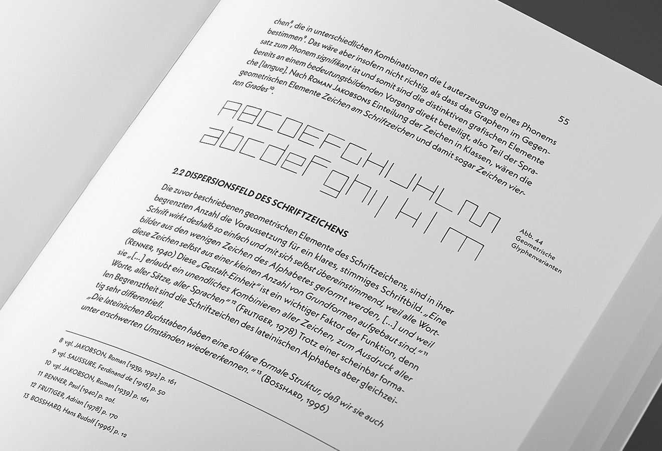 **Thesis in Neue Kabel?** Marc Schütz fit out Neue Kabel with multiple weights, respective italics and small caps along with seven sets of figures—it's all there to set an encyclopedia and other complex forms of text that need typographic emphasis and footnotes.