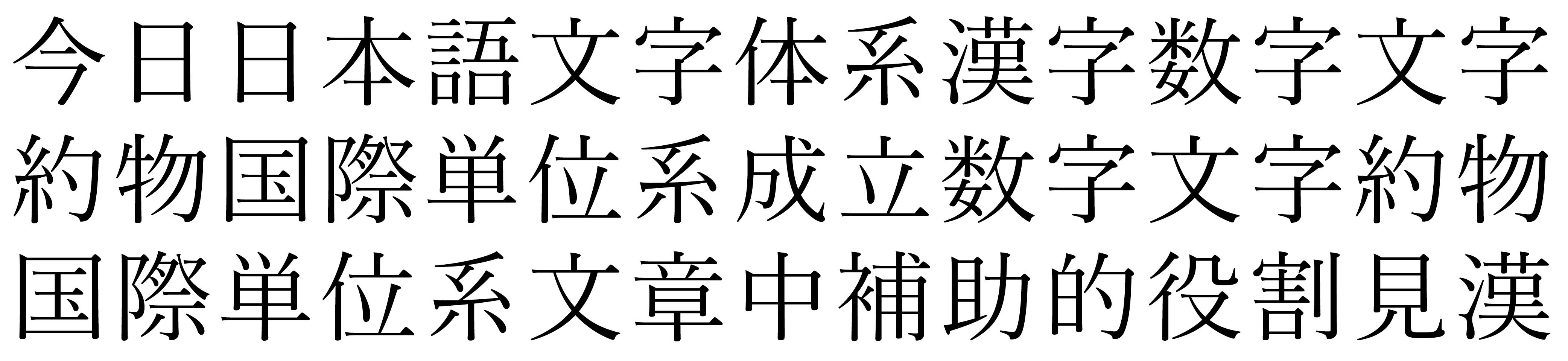 Example of Kanji