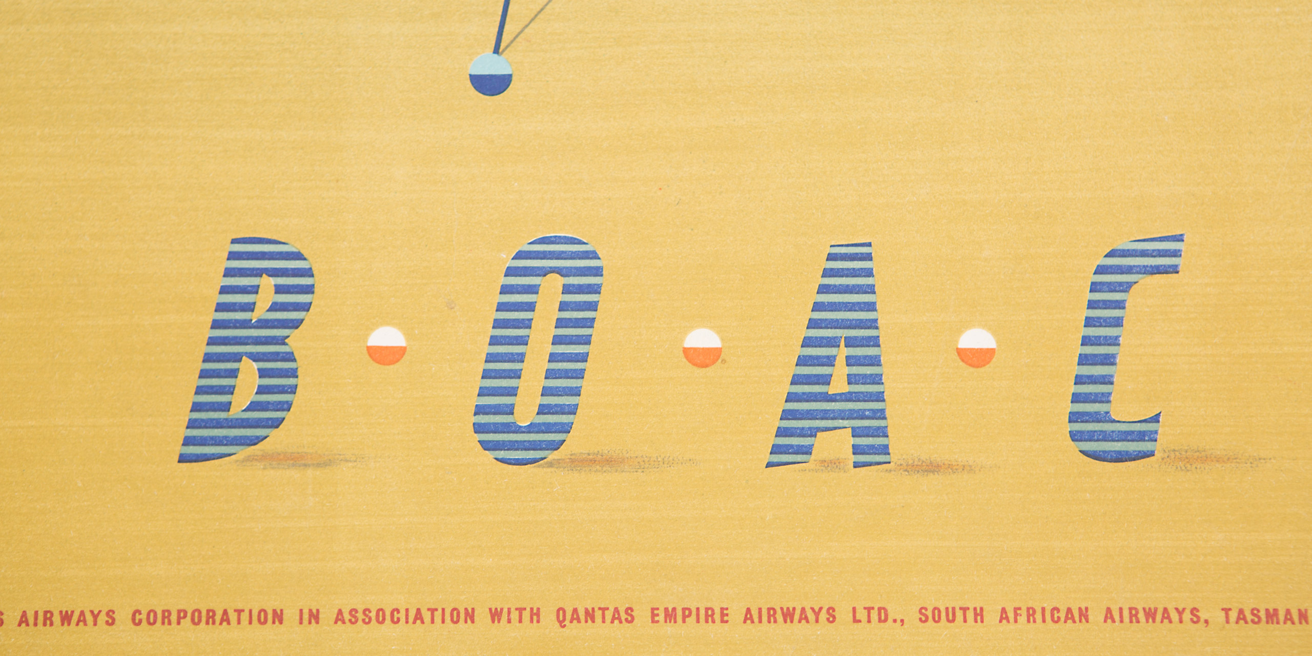 Fanfare by Wolpe used for a British Overseas Airways Corporation (BOAC) campaign, the forerunner of today's British Airways