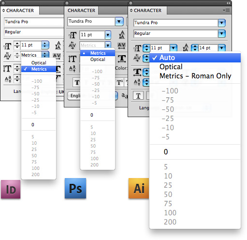 When tabular figures don't line up in vertical columns, check if Kerning is set to Metrics (Auto in Adobe Illustrator) and not Optical.