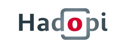 The original Hadopi logo presented on Friday, January 8, 2010.