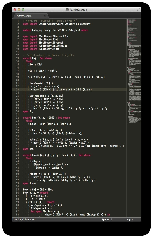 Agda coding typeset in PragmataPro