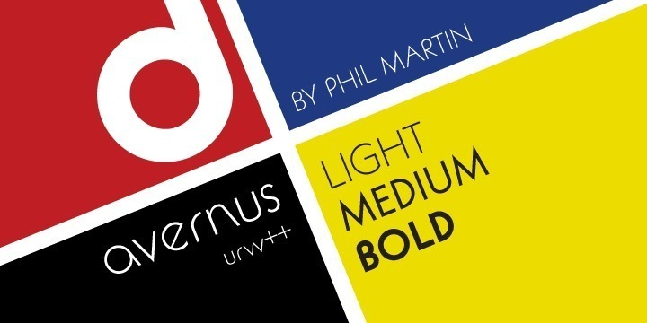 Avernus was designed by American designer Phil Martin in 1972. It is strongly inspired by ITC Kabel and ITC Rotunda, actually being a mixture of both. ITC Kabel again is a redesign / revival of the original Kabel typeface design created in 1928 by German designer Rudolf Koch. Phil Martin's Avernus creates its own character by combining forms and elements from both Kabel and Rotunda. The upper case characters are designed after the Roman Capitalis which consists of just a few very distinct form elements (circle, triangle, quadrat). Phil Martin added art-deco features to all of this. Like Cable (and the Roman Capitalis), Avernus characters differ quite a bit in width. Fonts from this category have been very popular amongst ad designers for decades.