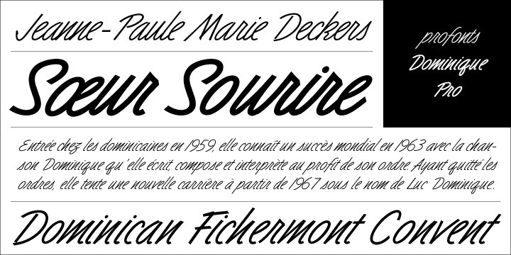 Distinctive and informal, this unusual script type style is suitable for a wide variety of display applications, particularly where a casual effect is desired. It's cheerful design and the strong italic angle with non-connecting characters generate a very dynamic and progressive style perfectly suited for headlines on magazines, catalogues and alike.